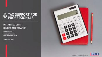 Distressed debt   BDO Tax Support for Professionals