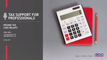 Income Tax loss reliefs   BDO Tax Support for Professionals