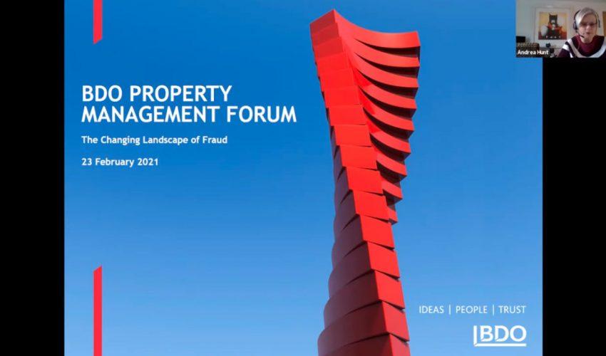 BDO Property Management Forum – The changing landscape of fraud – BDO webinar