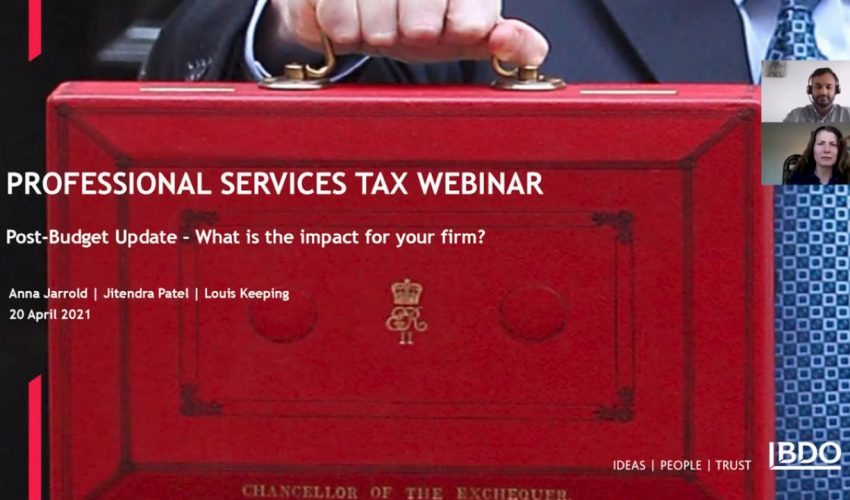 BDO Professional Services Tax Webinar Series: Post-Budget update – what is the impact for your f…