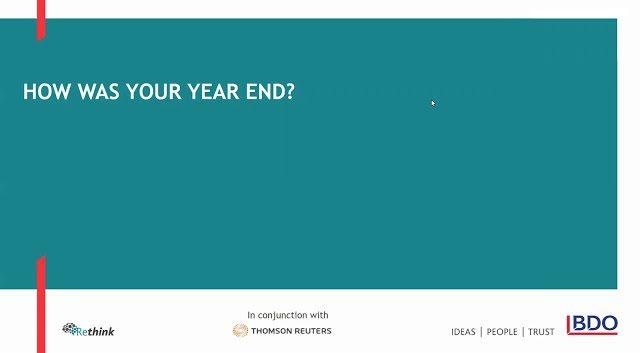 How was your year end? | BDO Webinar