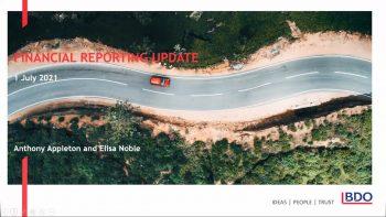 BDO Financial Reporting Webinar | July 2021