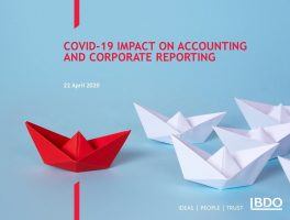 COVID-19 Impact on Accounting and Corporate reporting  BDO Webinar