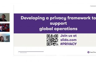 Developing a privacy framework to support global operations