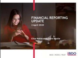 Financial Reporting Webinar – Coronavirus discussion  April 2020