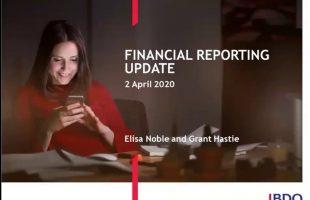 Financial Reporting Webinar – Coronavirus discussion| April 2020