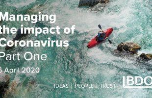 Managing the impact of Coronavirus| 6 April 2020