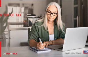 Webinar: On Top of Tax – 18 May 2021