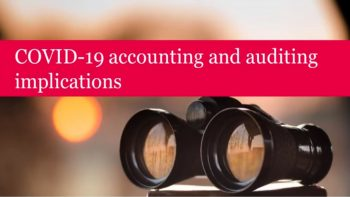 COVID-19 accounting and auditing implications