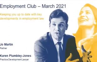 Keeping you up to date with key developments in employment law – webinar recording