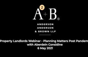 Property Landlords Webinar – Planning Matters Post Pandemic