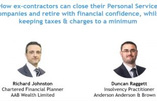 Webinar: Contractors with Personal Service Companies planning for retirement