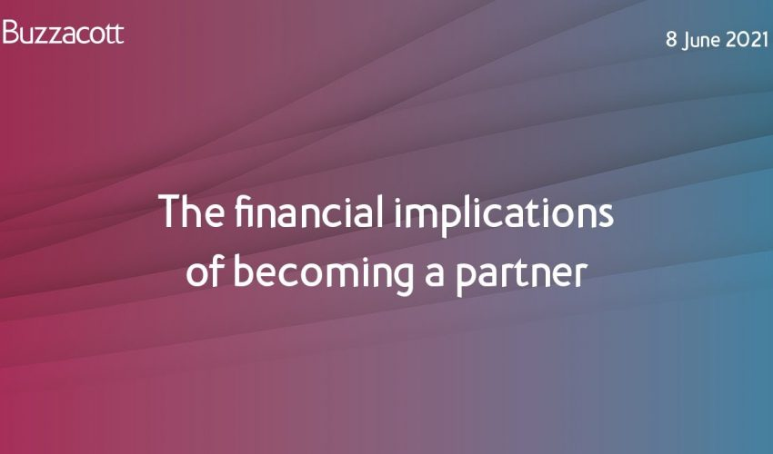 The financial implications of becoming a partner