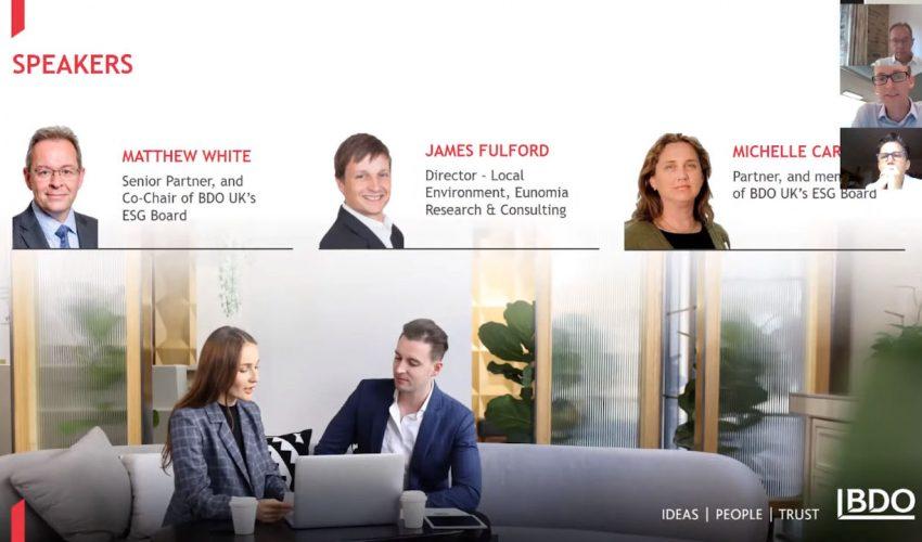 BDO Professional Services: Understanding ESG and its importance in the professional services world