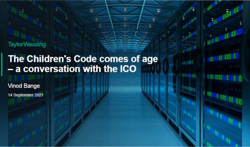 The Children's Code comes of age – a conversation with the ICO